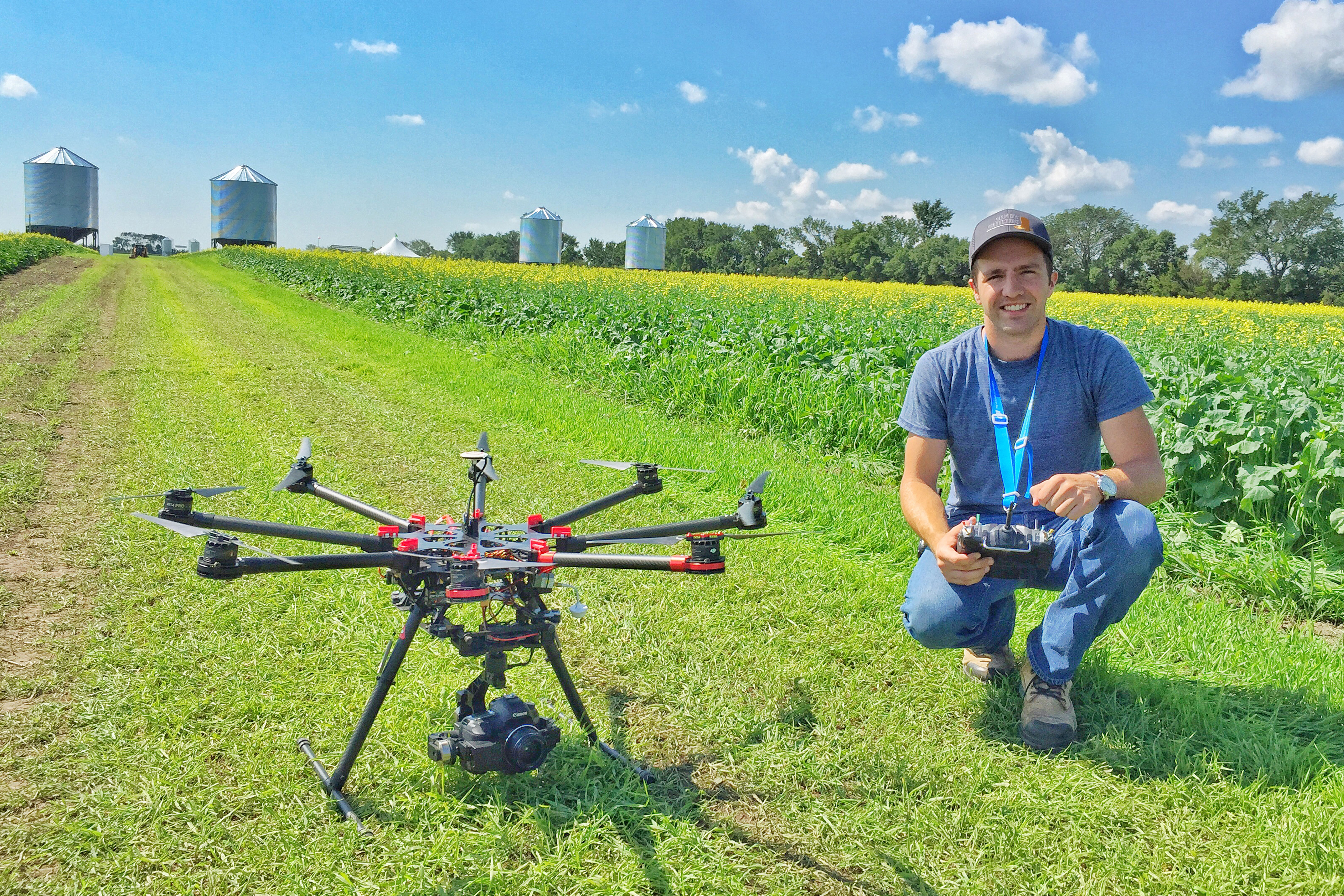 Live on location drone photo with operator Bruce Sargent